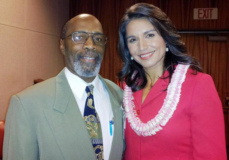 Congresswoman Tulsi Gabbard and Michael Peacock